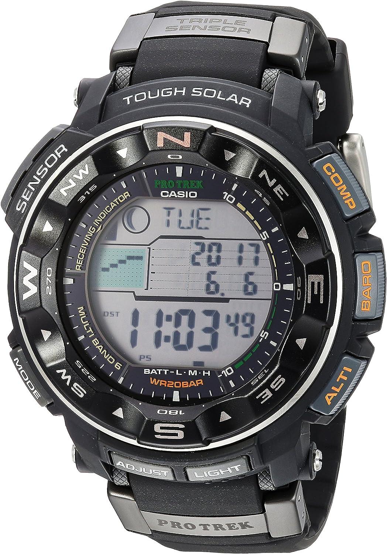 Casio Men s Pro Trek PRW2500R Tough Solar Digital Sport Watch