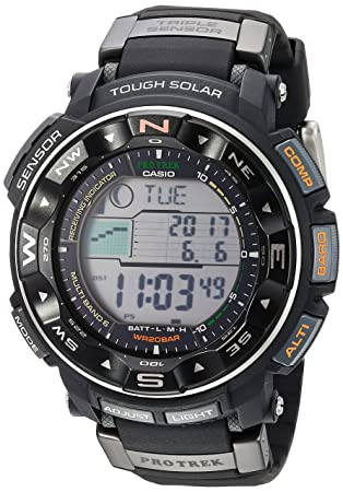 7da53ff5055 Amazon.com  Casio Men s Pro Trek PRW-2500R-1CR Tough Solar Digital ...