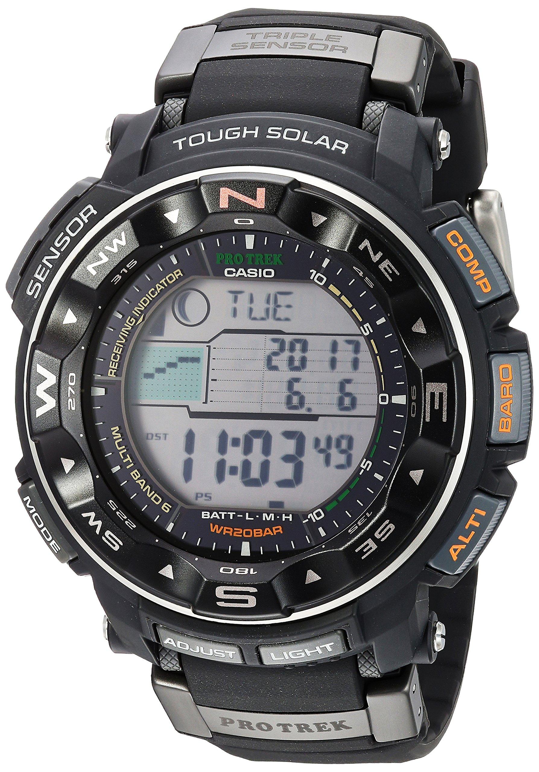 Casio Men's PRW-2500R-1CR Pro Trek Tough Solar Digital Sport Watch