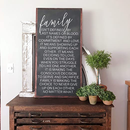 Amazon.com: bawansign Family Sign Family Isnt Always Blood ...