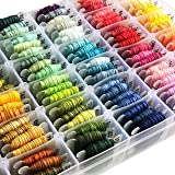 Embroidery Floss Kit-DMC Color-100 Embroidery Thread Organizer Storage Box, Friendship Bracelet String,Embroidery string…