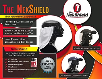 df2ba35fe Amazon.com: White Neck Saver, Neck Protection, Sun Protection, UPF ...