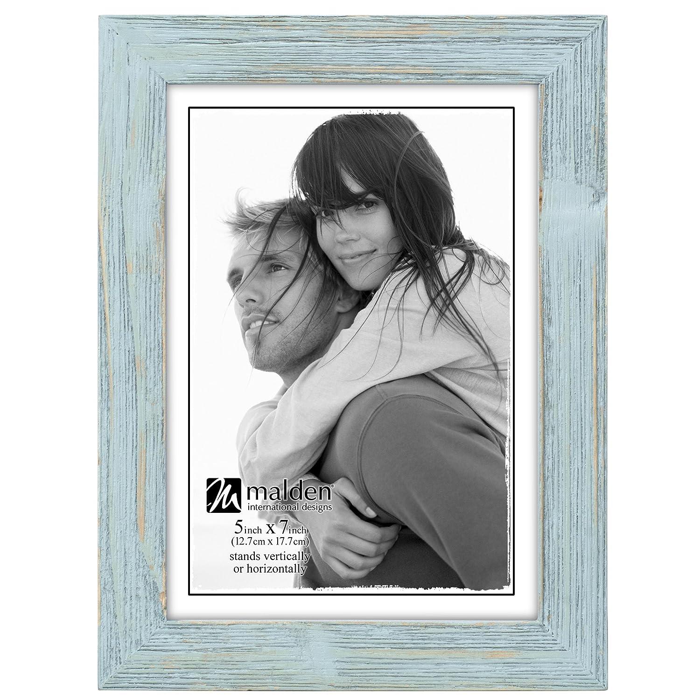 Seafoam Blue 5x7 Malden International Designs Linear Picture Frame