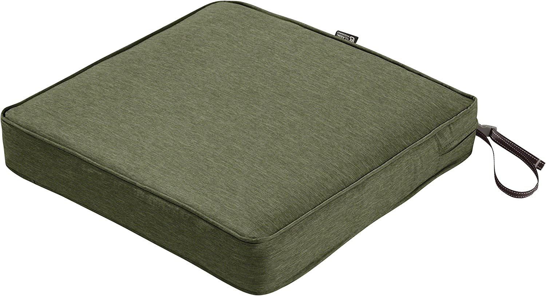 "Classic Accessories Montlake Seat Cushion Foam & Slip Cover, Heather Fern, 21x21x3"" Thick"