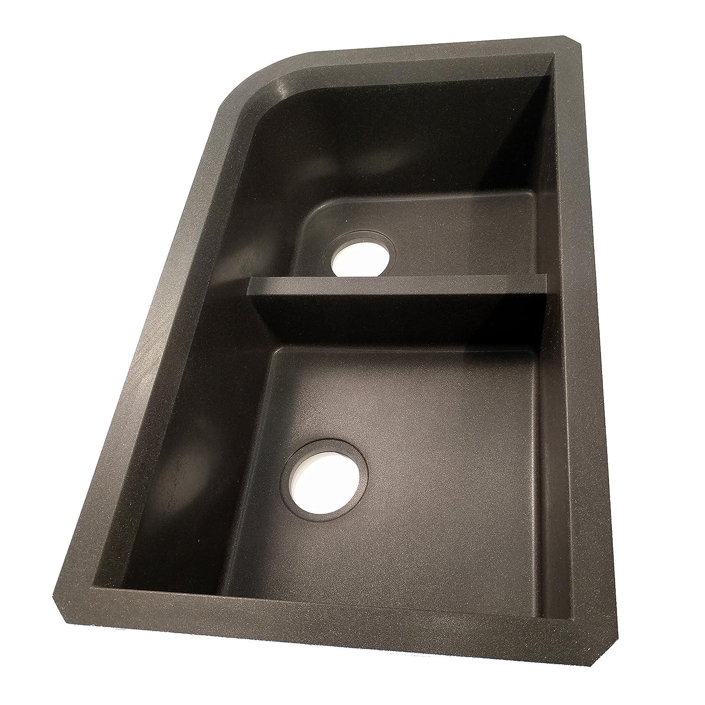 swanstone quld 3322 077 granite undermount double bowl kitchen