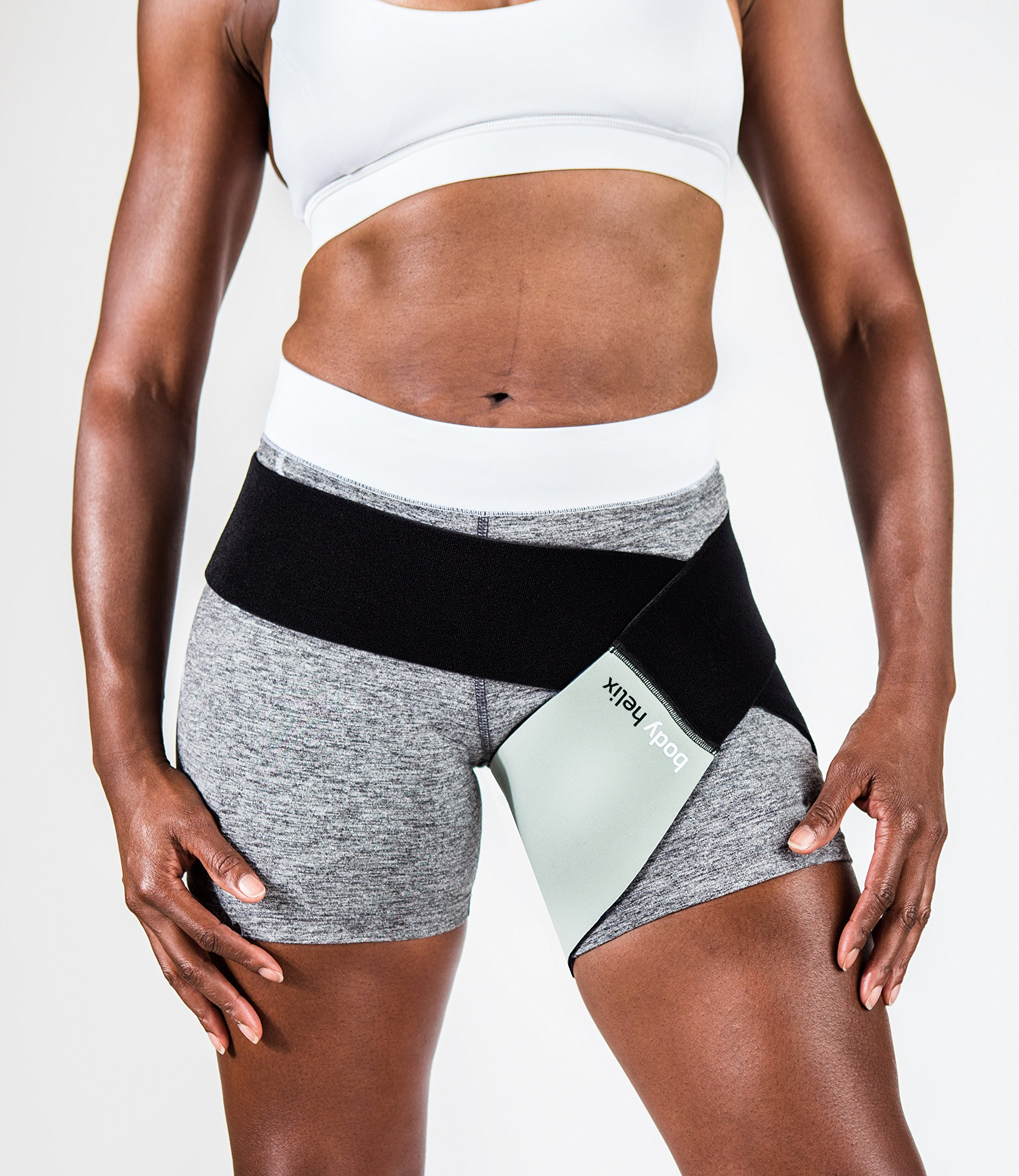 body helix Groin Muscle Support - Adjustable Groin Compression Wrap - Provides Exceptional Support to Injured Groin (Silver) by body helix