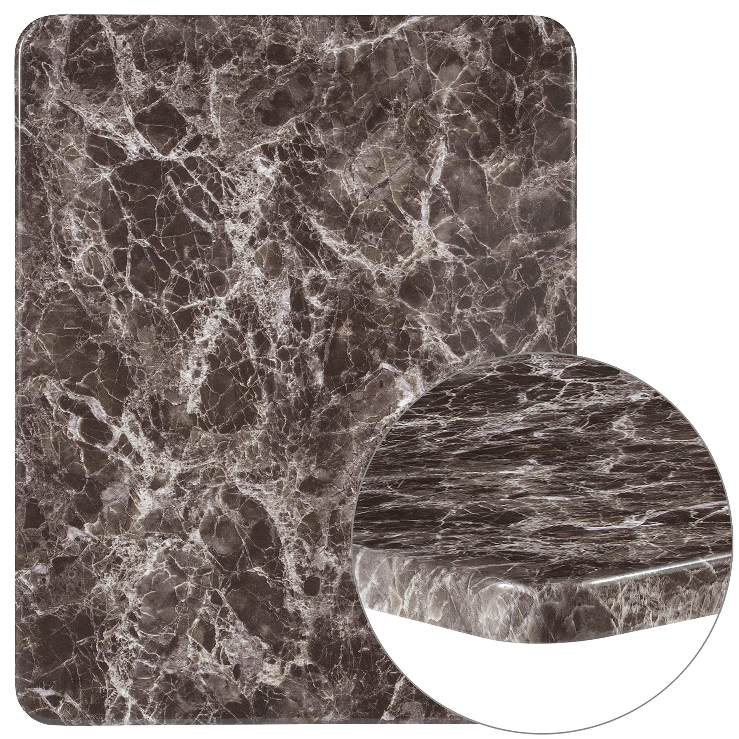 Flash Furniture 24'' x 30'' Rectangular Gray Marble Laminate Table Top