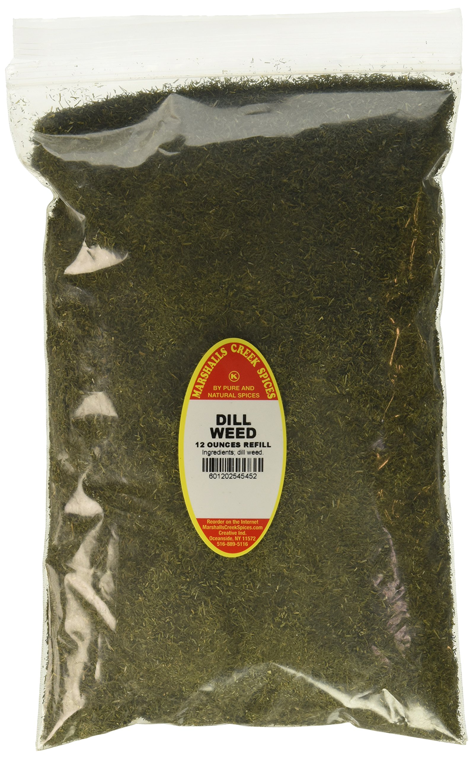 Marshalls Creek Spices Family Size Kosher Dill Weed Refill, 12 Ounce