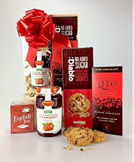 Deluxe diabetic dad themed sugar free food hamper biscuits chocolate diabetic joy deluxe wooden sugar free hamper biscuits chocolate jam unique gift fathers negle Choice Image