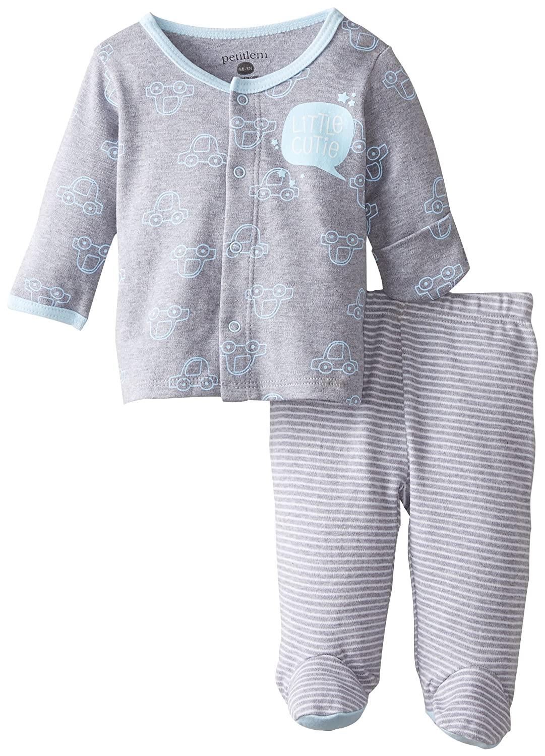 【60%OFF】 Petit Lem Newborn Petit baby-boys新生児My Little Little Car長袖上部と下部 Newborn A My Little Car B00WK497M6, Zenis(ゼニス):d1e0bd2a --- a0267596.xsph.ru