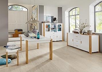 Wunderbar Komplett Set Esszimmermöbel Esszimmer Möbel Speisezimmer Sideboard +  Highboard + Tisch + Bank Weiß