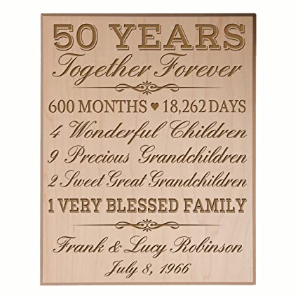 84adfe311f7b Image Unavailable. Image not available for. Color  LifeSong Milestones  Personalized 50th for him her Couple Parents ...