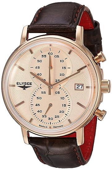 Cronógrafo esRelojes 83821Amazon Minos Reloj Elysee Classic Hombre E9YH2IWeD