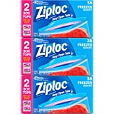 Ziploc Freezer Bags, Quart, 3 pack, 38ct