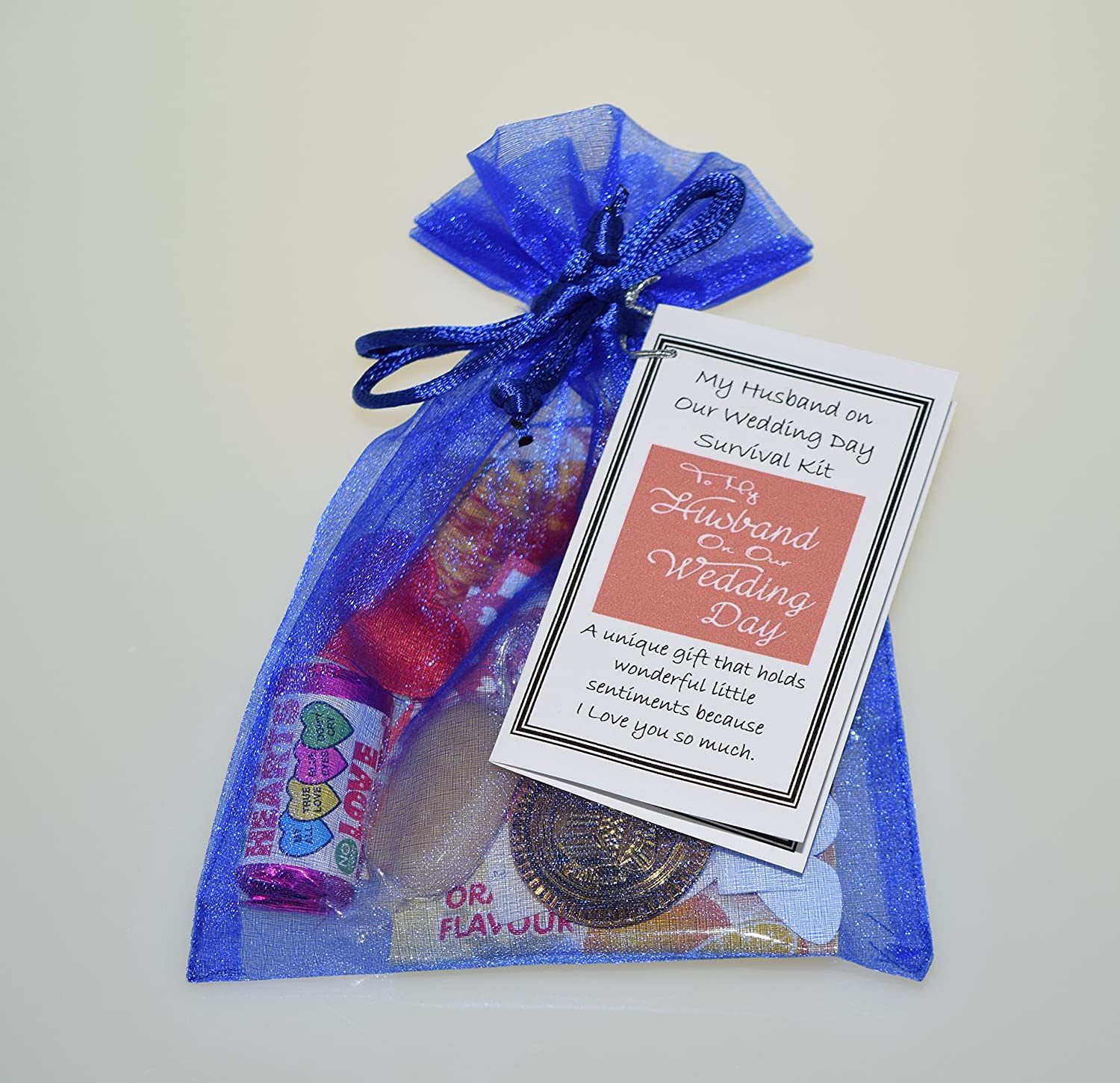 Special Thoughtful keepsake Gift My Husband on our Wedding Day Survival Kit