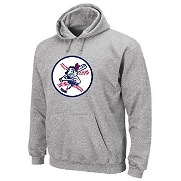 classic fit dd9a7 2d72a Cleveland Indians Sweatshirt: Majestic Steel Heather ...