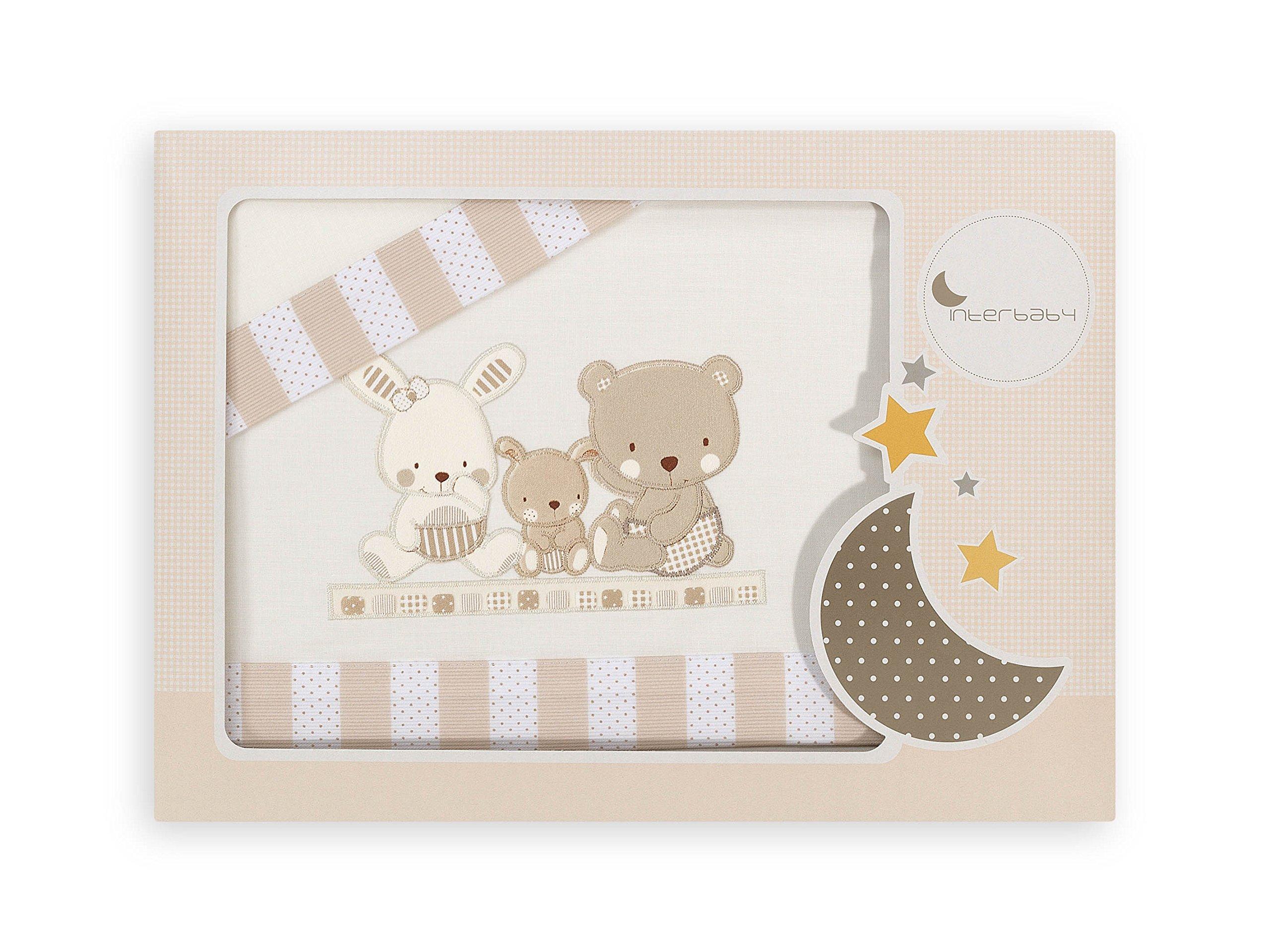 Interbaby Love - Juego de sábanas para minicuna, color beige product image