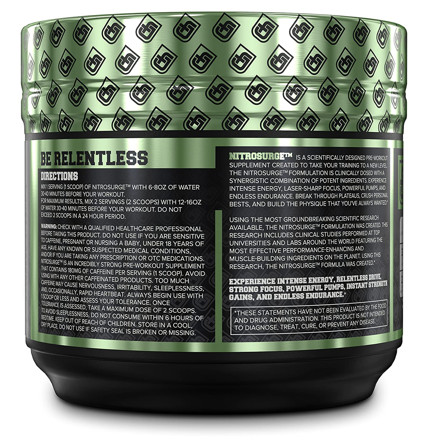 Amazon.com: NITROSURGE Pre Workout Supplement - Endless Energy, More  Strength, Sharp Focus, & Intense Pumps - Nitric Oxide Booster & Preworkout  Energy ...