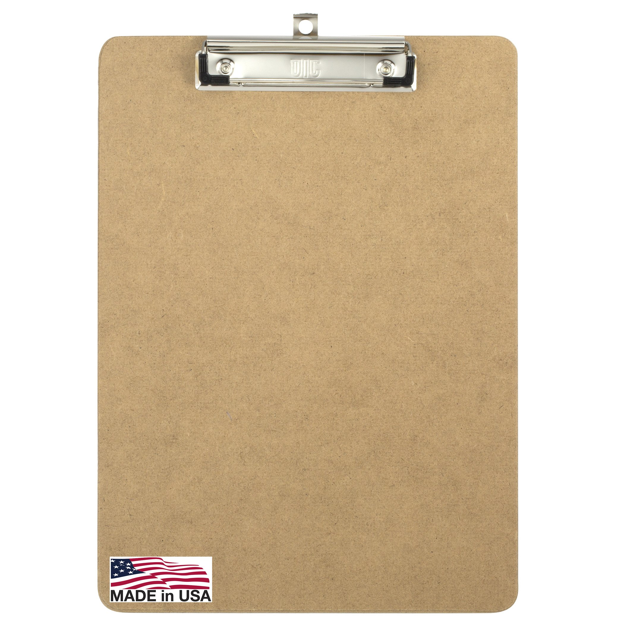 Officemate Letter Size Wood Clipboards, Low Profile Clip, 24 Pack Clipboard, Brown (83824) by Officemate (Image #2)