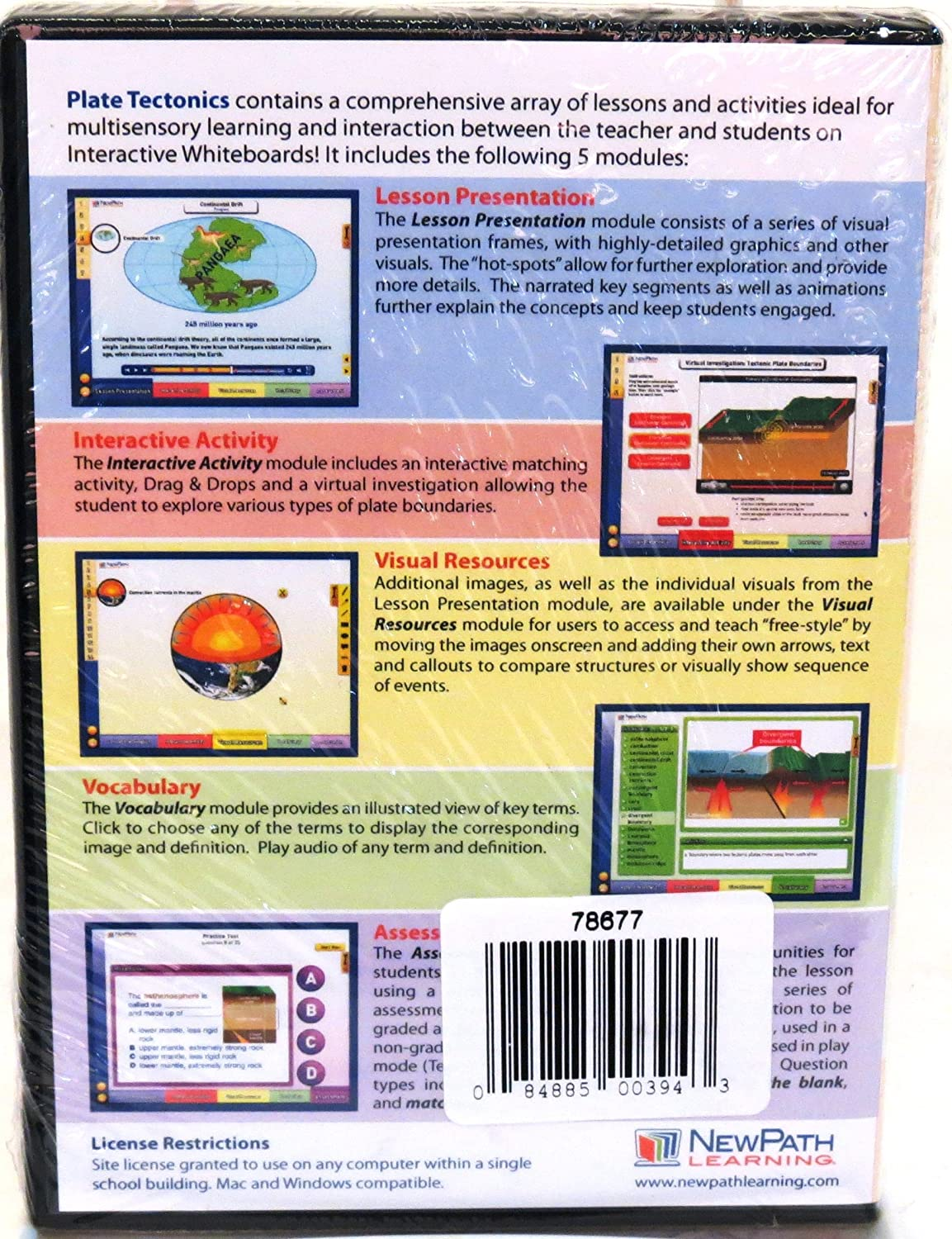 Plate Tectonics, Site License CD-ROM: Multimedia Lesson for Interactive Whiteboards 78677 ETA//Cuisenaire