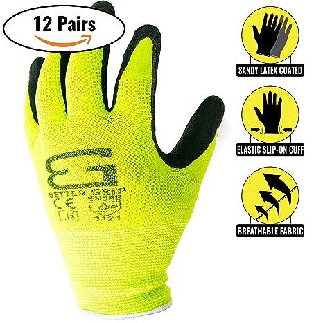 970f66e6322 Better Grip Ultra-Thin BGSL1 Nylon Sandy Latex Coated Work Gloves ...