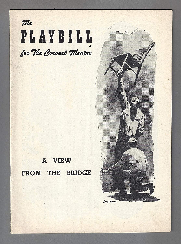 Arthur Miller's'A VIEW FROM THE BRIDGE' Van Heflin/Jack Warden/Gloria Marlowe 1956 Broadway Playbill