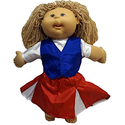 Doll Clothes Superstore American Cheerleader for Cabbage Patch Kid Dolls: Toys & Games
