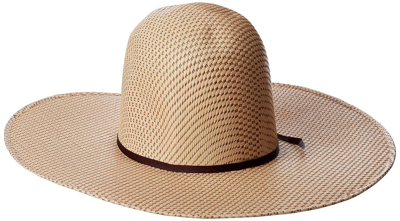 034892b8f6e Tony Lama Men s Open Crown Spotted Sheridan Straw Cowboy Hat