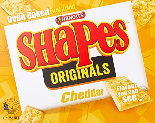 f356209792ae3 Arnott's Shapes Cheddar Biscuits, 175 Grams: Amazon.com.au: Grocery ...