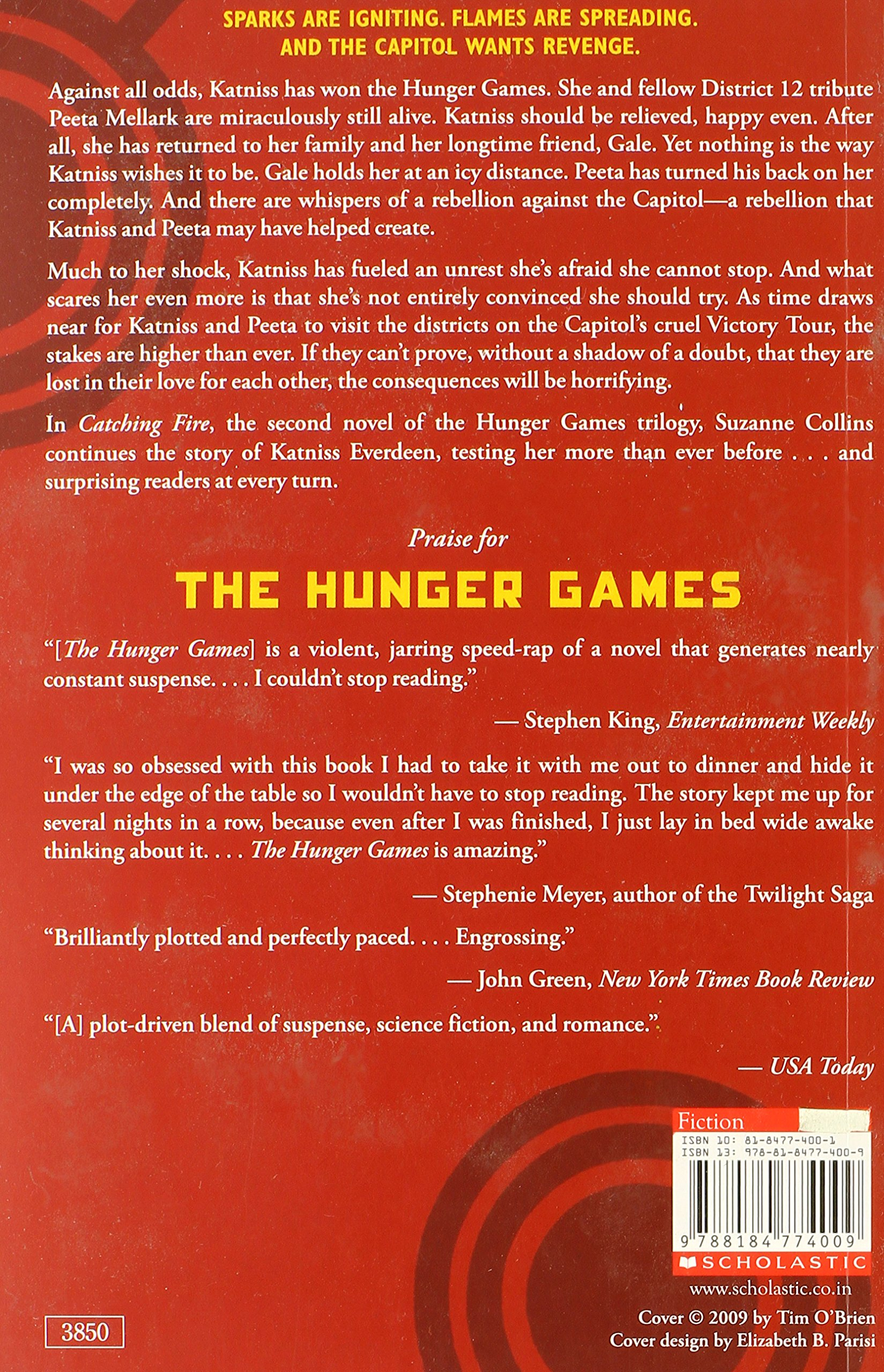 the hunger games catching fire book Download free ebook of catching fire (the hunger games, #2) soft copy  in  catching fire, the second novel in the hunger games trilogy, suzanne  fire ( the hunger games, #2) author name: suzanne collins book.