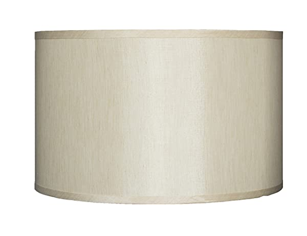 Urbanest Faux Silk Drum Lampshade, 16 Inch By 16 Inch By 10