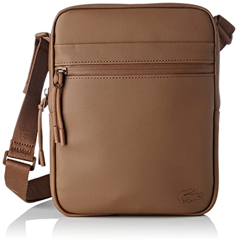 2525d46757 Lacoste Mens NH2454PO Shoulder Bag Brown Size: One Size: Amazon.co ...