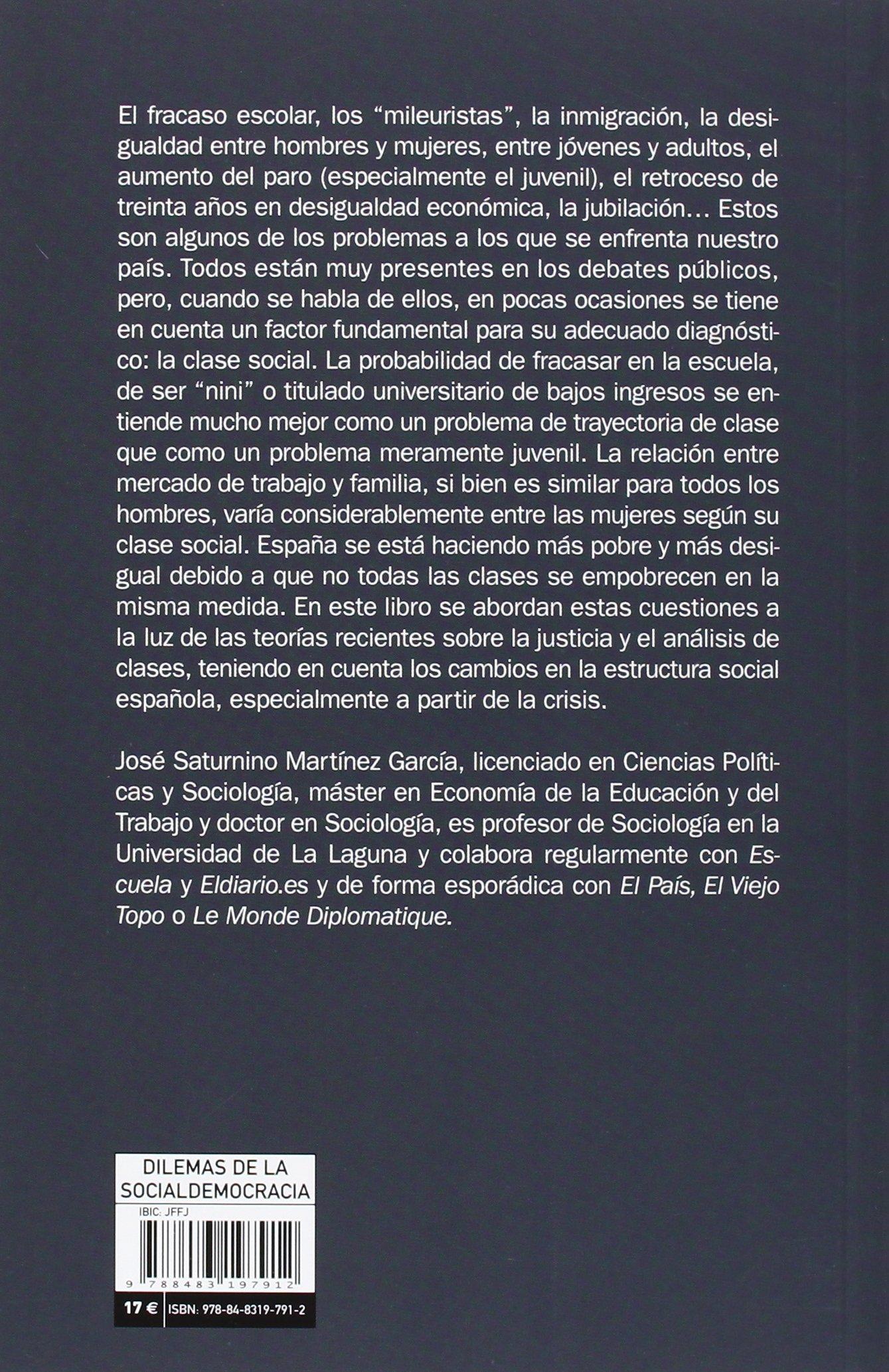 Estructura social y desigualdad en España (Mayor): Amazon.es: Martínez García, José Saturnino: Libros