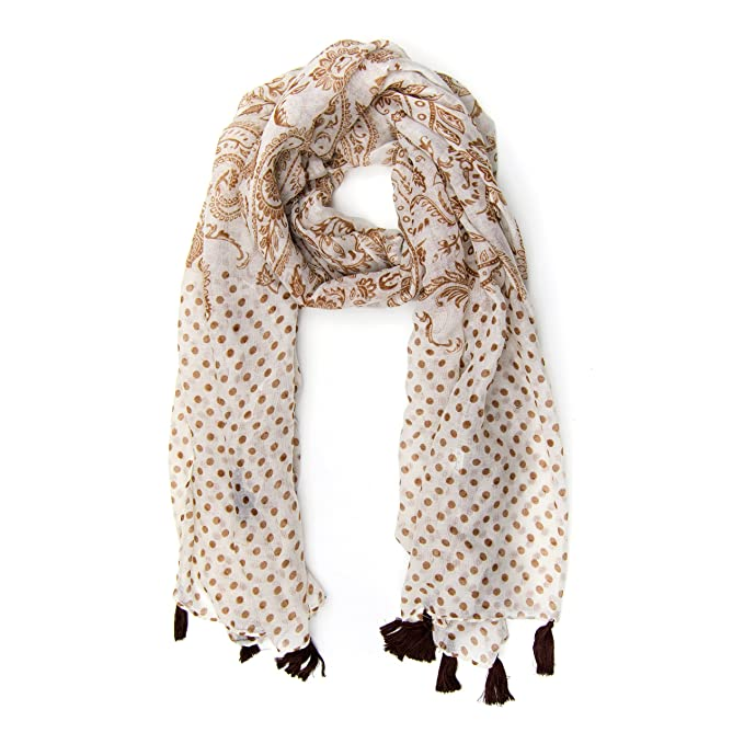 Lightweight Pink Summer Scarf Crinkle Chiffon with Magnetic Clip