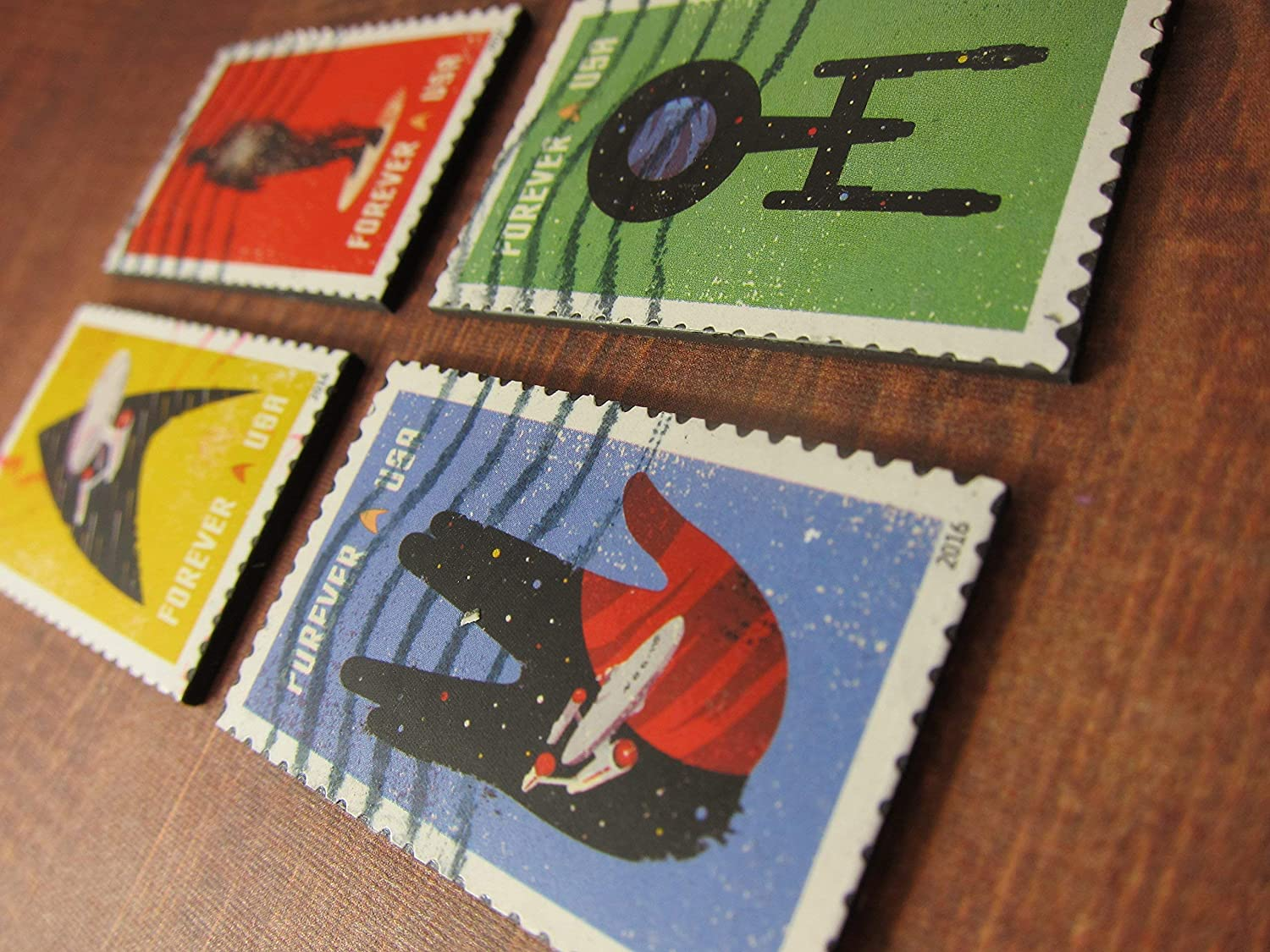 Star Trek Magnets Recycled Postage Stamps from the USA