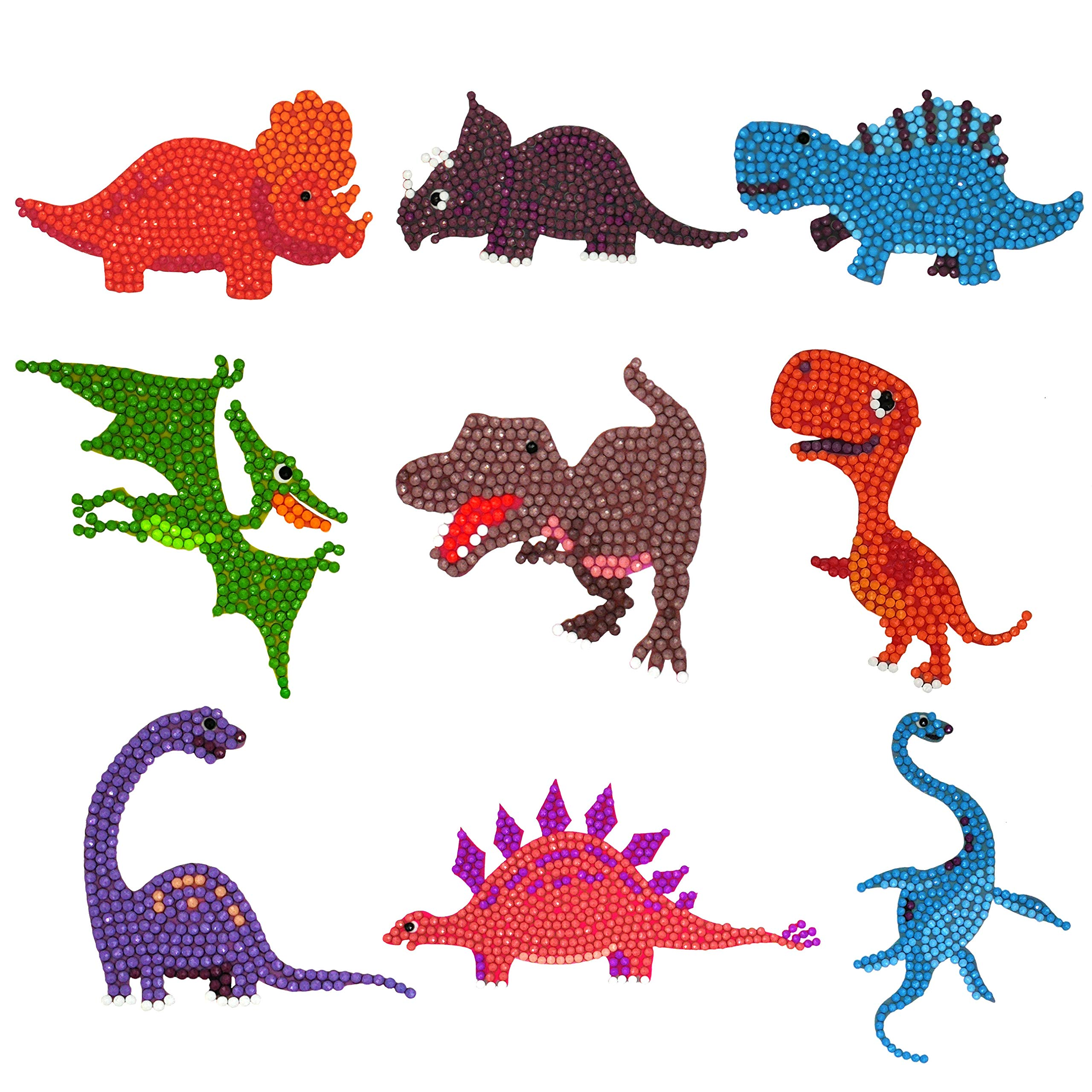 AngelHome Diamond Painting Kits for Kids / 5D DIY Diamond Sticker Paint by Numbers Kits (Dinosaurs) by AngelHome