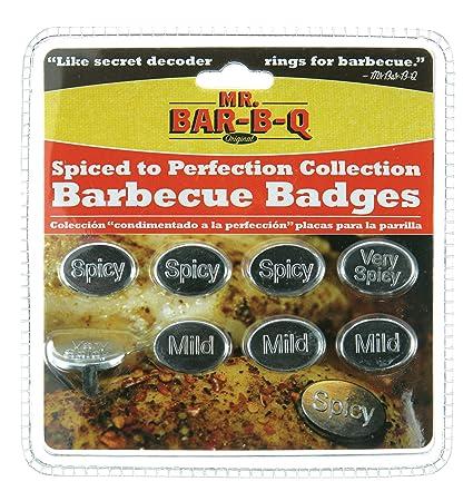 Amazon.com : Mr. Bar-B-Q, Inc. 40164X BBQ Badges Spiced To ...