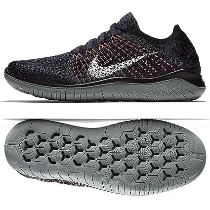 Nike Wmns Free RN Flyknit 2018 Zapatillas, Mujer, (Gridiron/White/Black