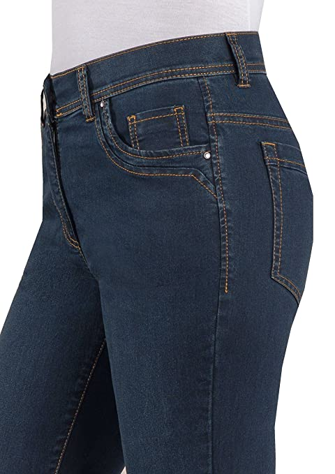 Adelina Five-Pocket Stretch Jeans mit Dehnbund 10760-2970-3 braun