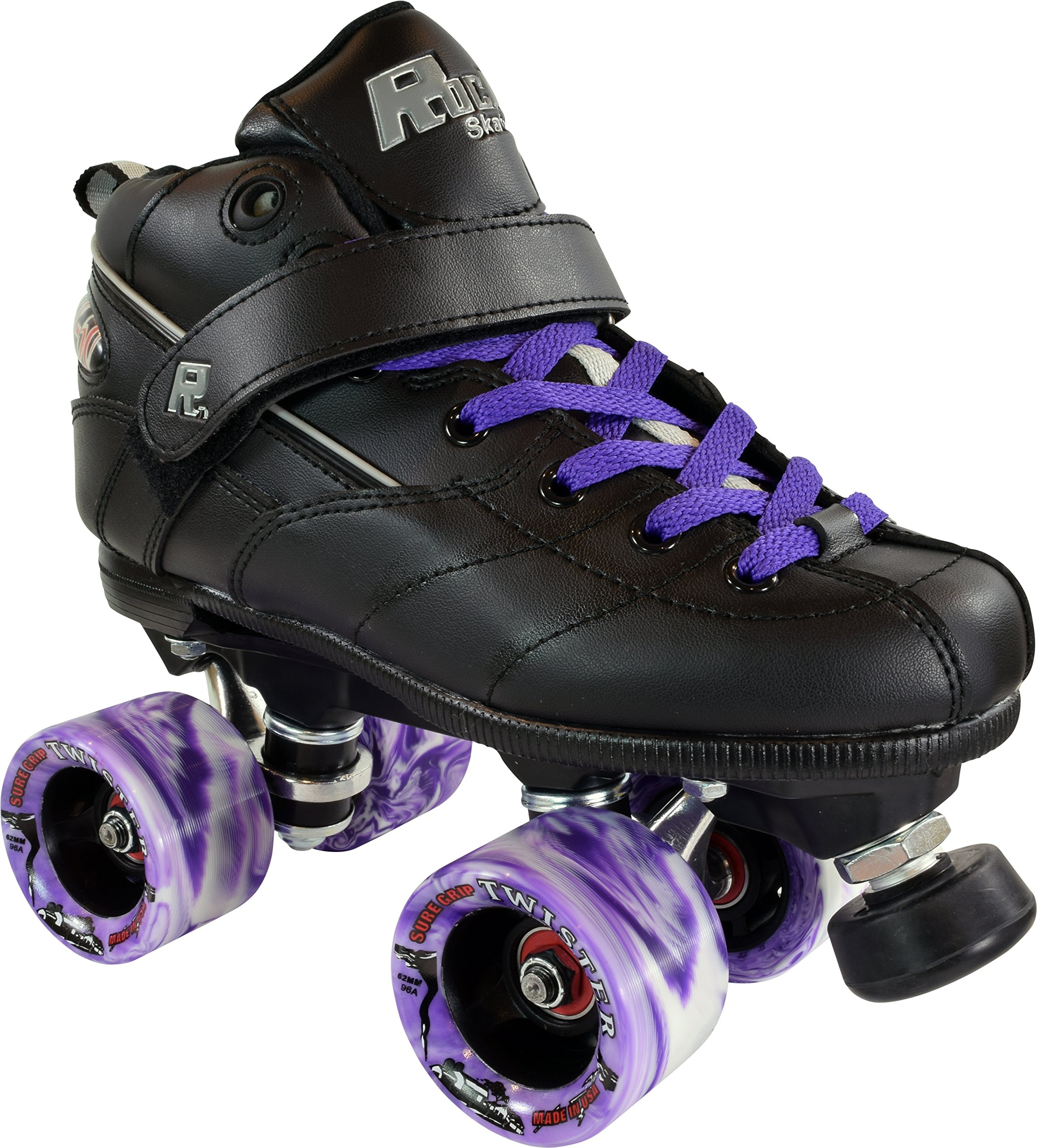 Rock GT-50 Roller Skates w/ Purple Wheels & Laces