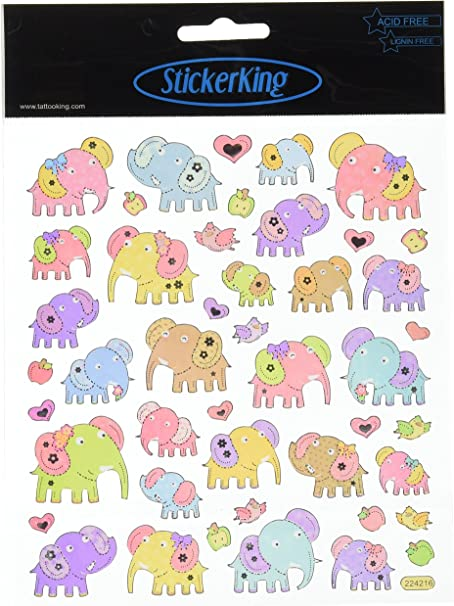 Tattoo King Multi-Colored Stickers-Flower Kittys