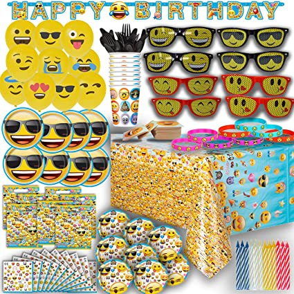 Image Unavailable Not Available For Color HeroFiber Ultimate Emoji Birthday Party