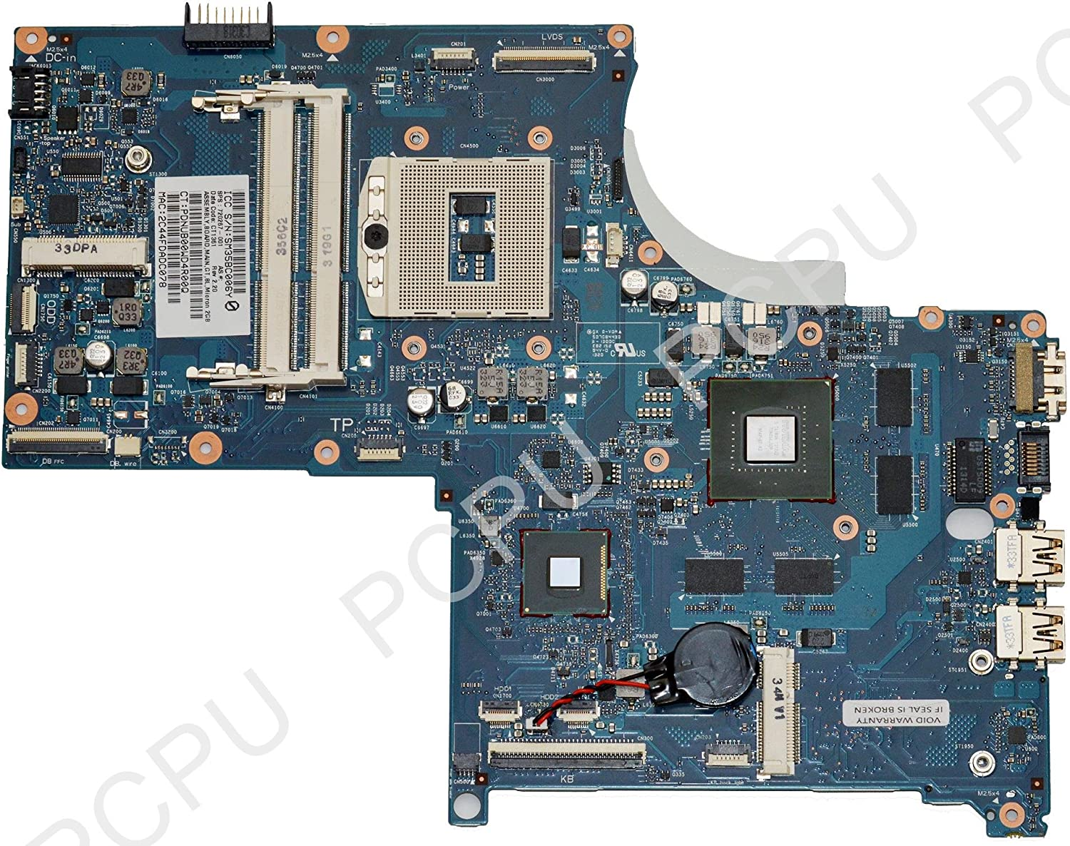 720267-001 HP Envy Quad 17-J 750M//2G Intel Laptop Motherboard s947