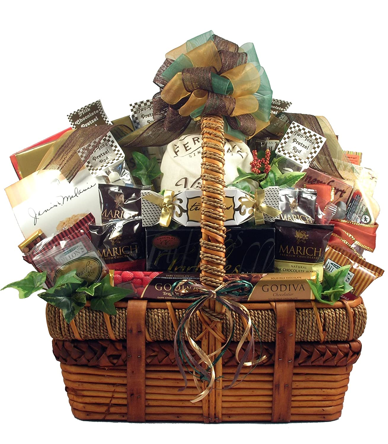 The Ultimate Gourmet, Large Gift Basket For A Group Or Family - Loaded with Sweet Treats & Savory Snacks, 14 lb