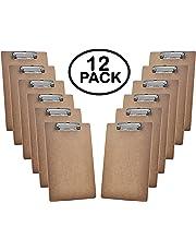 Acrimet Clipboard Letter Size A4 (33 cm x 23 cm) Low Profile Clip (Hardboard) (12 Pack)