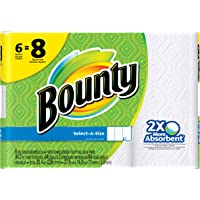 Procter & Gamble 88202 Paper Towels, Big Roll, Select-A-Size, White, 84-Sheets, 6-Pk.