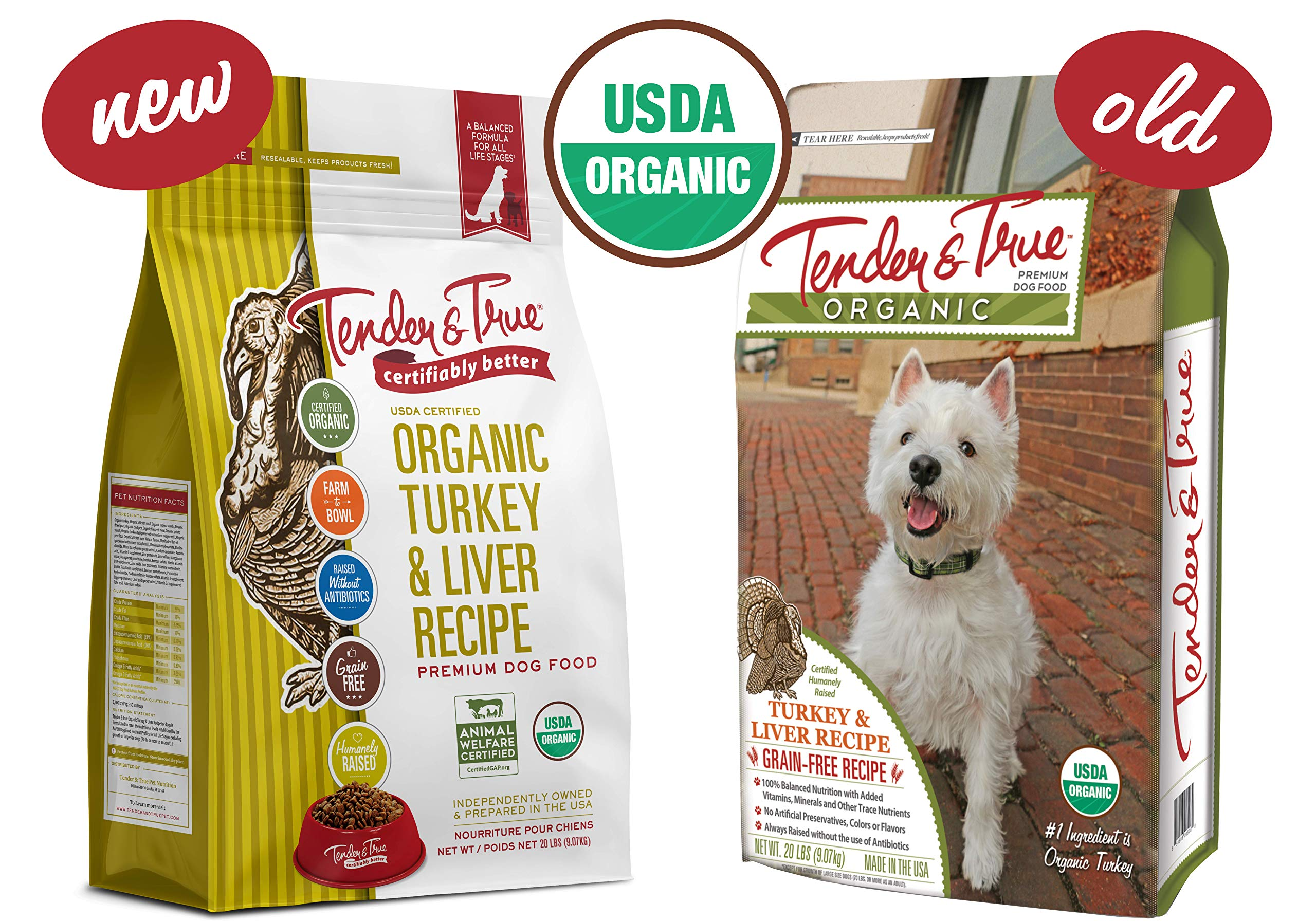 Tender & True Organic Turkey & Liver Recipe Dog Food, 20 lb by Tender & True Pet Nutrition