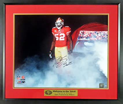 """3850c8bc40c SF 49ers Patrick Willis Autographed 16x20 Photograph (w  """"Welcome to the   Stick"""