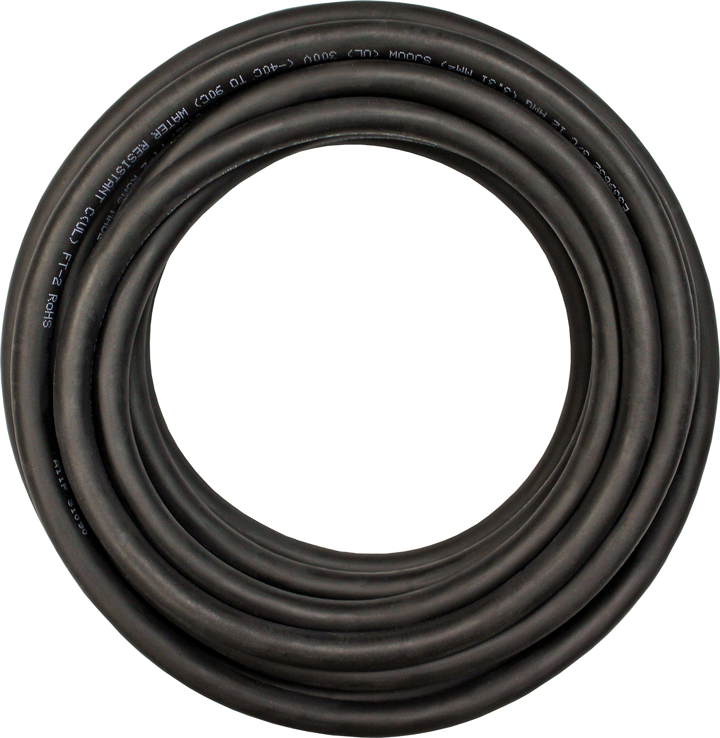 Cerrowire 283-4203C 100-Feet 6/3 SOOW Rubber Flexible Extra Heavy Duty Cord, Black