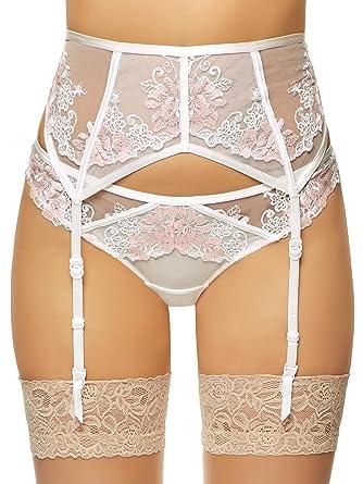 c479cc2053fc5 Ann Summers Womens Paige Suspender Belt Lace Mesh Sexy Lingerie Underwear  Ivory S  Amazon.co.uk  Clothing
